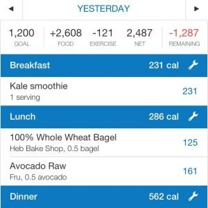 MyFitnessPal is an app recommended for anyone going vegan